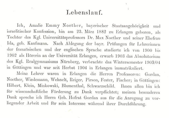 1908 die der verffentlichen dissertation beigegebene gedruckte fassung ihres lebenslaufes weicht geringfgig von ihrem handschriftlicher lebenslauf ab - Handschriftlicher Lebenslauf